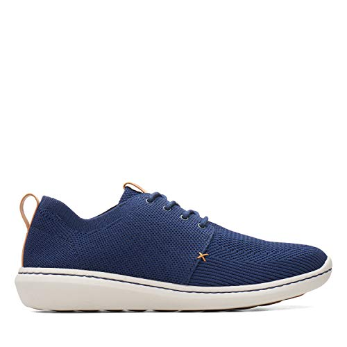 Clarks Step Urban Mix, Scarpe Stringate Derby Uomo, Blu (Navy-), 43 EU