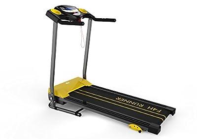 Folding Treadmill Fitness Exercise Running Machine Motorised F4h Rapid Jk1603 (black) from F4H
