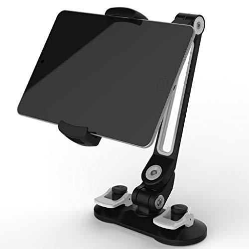 WZHZJ Tableta Universal Tenedor de Coche Aleación de Aluminio Arma Ergonómico 360 Grados Rotatable Doble Sucker Lazy People Stand