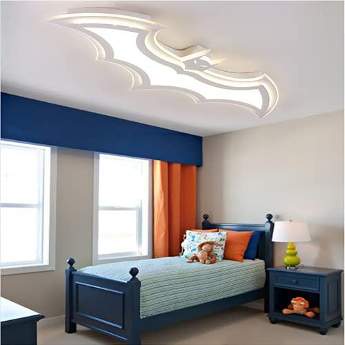 WHL Plafón para habitación Infantil, plafón acrílico Ultrafino LED con Control Remoto Regulable, plafón Batman, Adecuado para Sala de Estar, Dormitorio, Estudio, Moderno y Sencillo