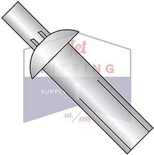 : Aluminum//Steel Rivet Series: 614 Head Style: Large Flange Rivet Size: 3//16 Rivet//Mandrel Blind//Breakstem Rivet, Grip Range: .626-.750 Length: .750 Material Finish: Plain QTY: 500