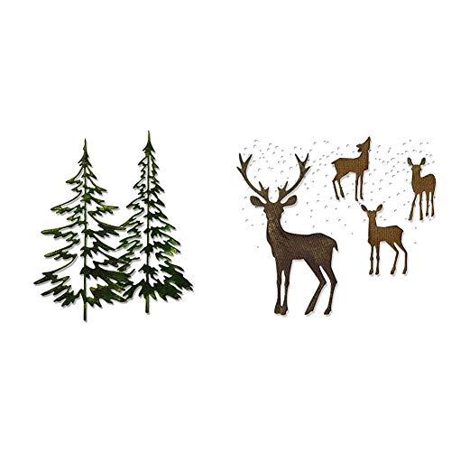 Sizzix Christmas Bundle - Woodlands & Winter Wonderland Thinlits Dies by Tim Holtz
