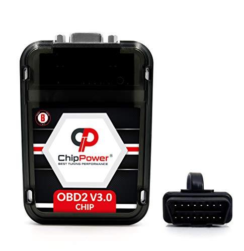 Chiptuning ChipPower OBD2 v3 mit Plug&Drive für Zafira C III 1.6 Turbo/SiDi 2011-2020 Tuningbox Benzin Chip Tuning Mehr Leistung