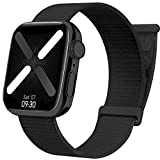 Nylon Band Compatible with Apple Watch Band Series SE/6/7 38/40/41/42/44/45mm, Sport Solo Loop Woven Stretchy Strap Braided Elastics Wristband for Women/Men Compatible with iWatch Series 5/4/3/2/1