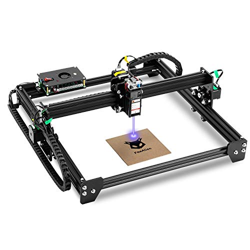 LE-4040 Desktop Laser Engraver 5000mW Class 4, 40x40cm CNC Laser Engraving Machine Wood Cutter Carving for Acrylic Leather MDF Logo Picture DIY Making GRBL Control