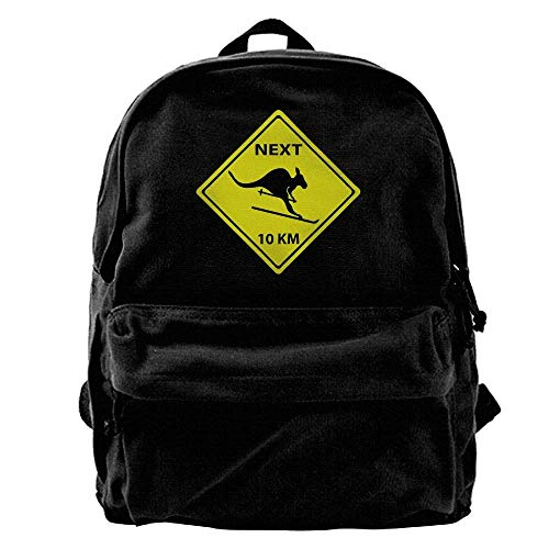 hengshiqi Rucksack Schultasche,Backpack, Roadsign Kangaroo Ski Outdoor Backpack School Bags Travel Backpack Canvas Christmas Backpack Unisex Boys and Girls