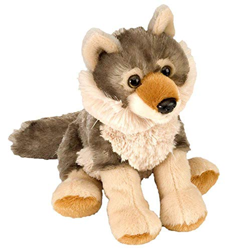Wild Republic 10852 Plüsch Wolf, Cuddlekins Kuscheltier, Plüschtier, 20 cm