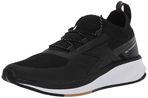 Reebok Women's FUSIUM Run 20 Sock Shoe, Black/White Rubber Gum, 9.5 M US