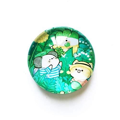 Qianqingkun Souvenir Personalizzati, Adesivi magnetici per Frigorifero in Cristallo, Adesivi magnetici per Frigorifero creativi per la Decorazione Domestica-Gatto e Topo_in