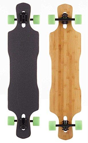 NICE Longboards Nice Bamboo Twin Kick Shop Modell 43 x 10 Hardgoods Street, Multicolour, 10 x 43 Zoll