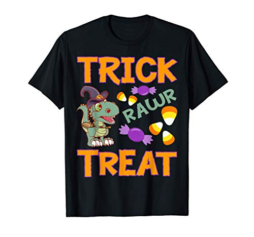 Halloween 2020 Trick rawr Treat Witches Disfraz dinosaurio Camiseta