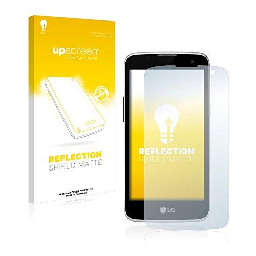 upscreen Entspiegelungs-Schutzfolie kompatibel mit LG K4 LGK121 – Anti-Reflex Bildschirmschutz-Folie Matt