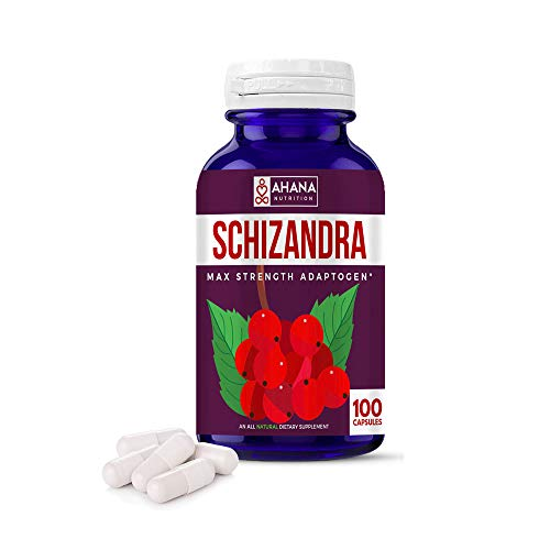 Organic Schizandra Fruit Capsules - Schisandra Supplement Helps Deal with Inflammation, Maintains Digestive Health, Aids Stress & Liver Support (900mg – 100 ct)