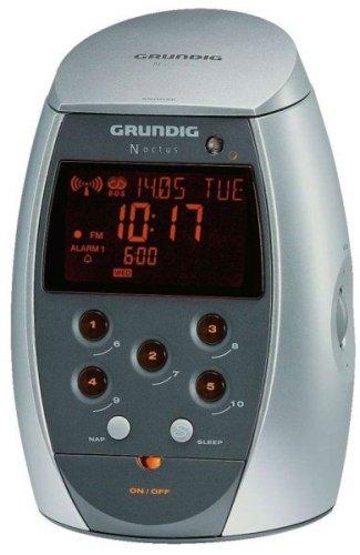 GRUNDIG  Sonoclock 9100 NOCTUS, Funkuhr, chrom