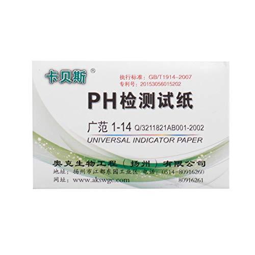 Triamisus 80 Streifen 59 mm x 8 mm Voller pH-Meter Controller 1-14st Anzeige Litmus Papier Wasser Tränken Kit PH-Teststreifen 15 Sekunden