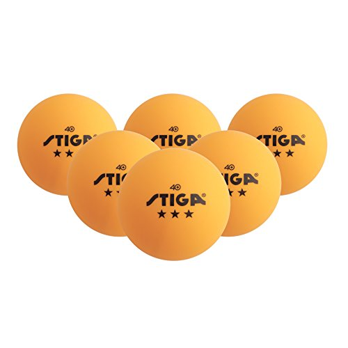 STIGA 3-Star Table Tennis Balls (Orange, 40 Mm Two 6 Packs)
