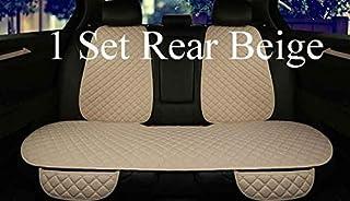 Fundas de cojines de asiento de coche pequeño trozo conjunto de asiento suministros de asiento de coche, Auto accesorios del coche cojín del asiento del muelle de verano (1 Color: negro trasera amaril