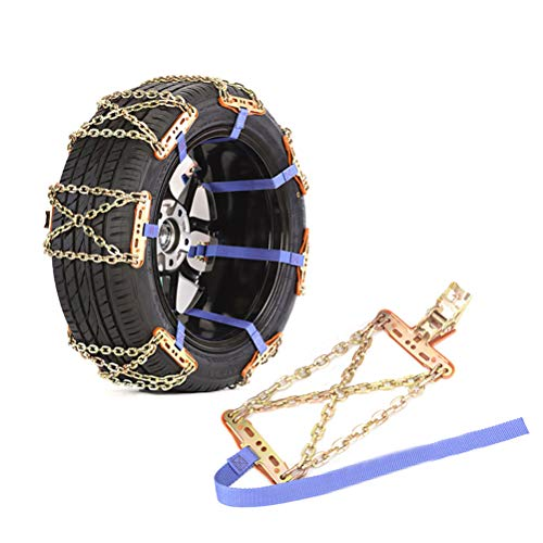 Cadenas de nieve para neumáticos, cadenas de nieve pesadas, cadenas de neumáticos mejoradas para autocaravanas y todoterrenos