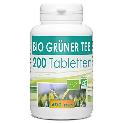 Bio Grüner Tee 400mg - 200 Tabletten