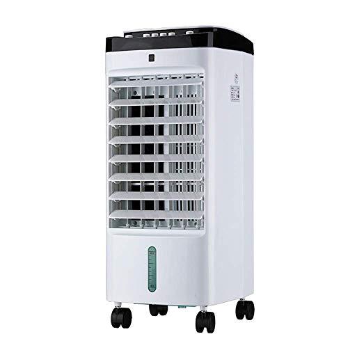 THS@ Ventilador De Aire Acondicionado Enfriador De Aire Evaporativo PortáTil Ajuste De Velocidad del Viento 3 Tanque De Agua De 4 litros Funcionamiento Sencillo Blanco 25x26x57.5cm