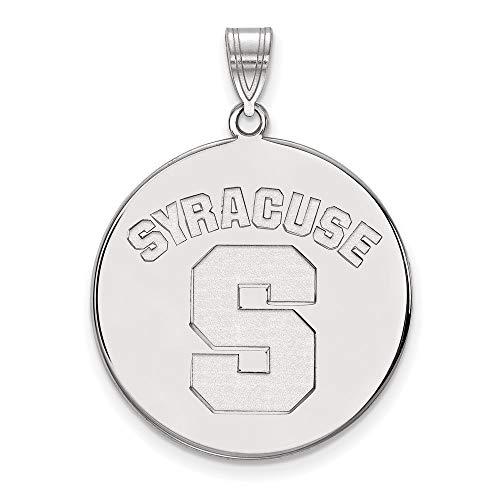 Charm Pendant White Sterling Silver New York NCAA Syracuse University 32 mm 25