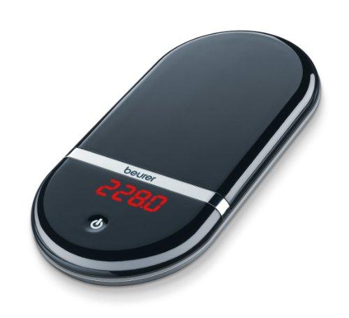 Beurer KS36 Balanza de cocina de precisión, medición 2 kg, para pigmentos y condimentos, display invisible, auto tara, apagado automático, altura nº pantalla 1 cm, negro