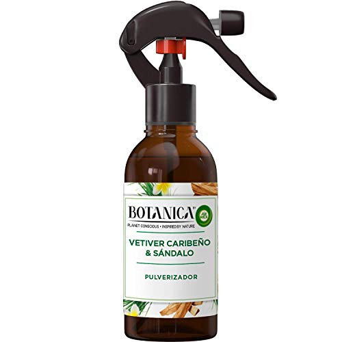 Botanica by Air Wick - Ambientador Pulverizador, Esencia Para Casa Con Aroma A Vetiver Caribeño Y Sándalo – 236 ml