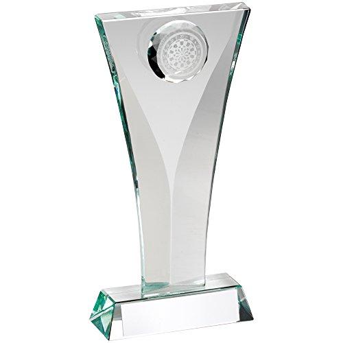 Glas Darts Trophy mit 3D Dartscheibe Rundum, , 6.5