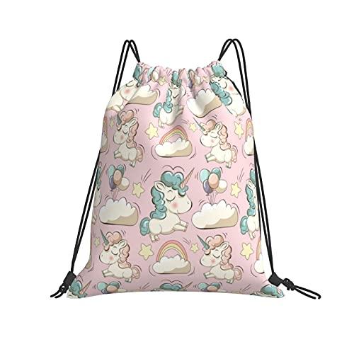 Mochila de fiesta de playa de unicornio para bebé, viajes, deportes, senderismo, escalada, correr, natación, ropa de fútbol, bolsas de regalo para niñas y niños