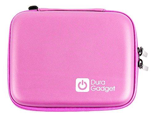 DURAGADGET Funda Rígida Rosa Compatible con Cámara Digital Polaroid Snap Touch - con Mini Mosquetón