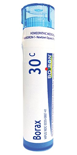 Boiron Borax 30C 80 Pellets Homeopathic Medicine for Canker Sores