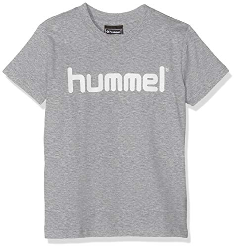 Hummel Kinder HMLGO Kids Cotton Logo T-Shirts, Grau Melange, 152