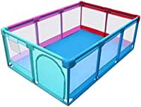 Playpens Large Infant Baby Kids Activity Centre Safety Play Yard Home Indoor Outdoor, Boys Girls Safety Folded Toddlers Home Fence, Multicolor