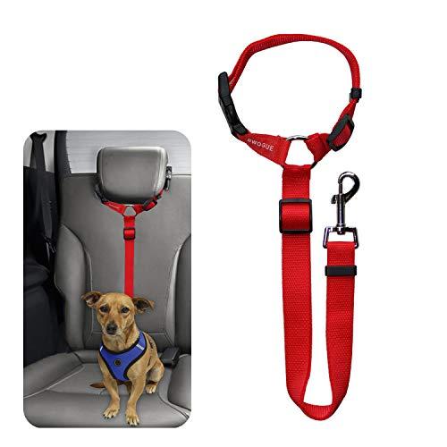 BWOGUE Pet Dog Cat Seat Belts, Car Headrest Restraint Adjustable Safety Leads Vehicle