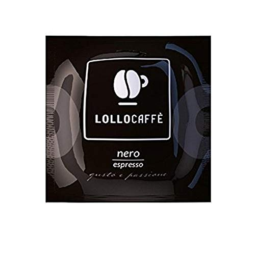 LOLLO Cialde Caffe Miscela Nera Pregiata Filtro-carta 44 Mm Ese, Originale, 150 Unità