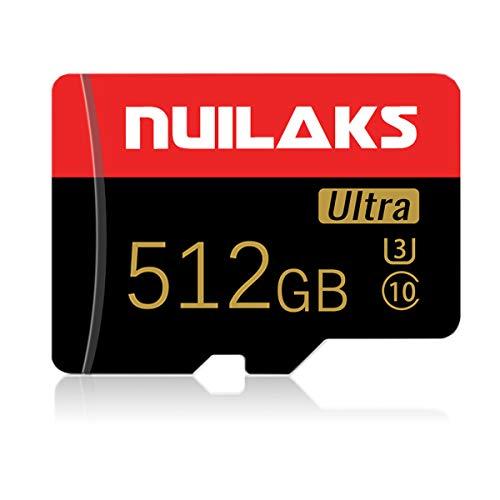 Tarjeta de memoria de 512 GB clase 10 Micro SD para cámara y Smartphone TF tarjeta de memoria con un adaptador de tarjeta SD