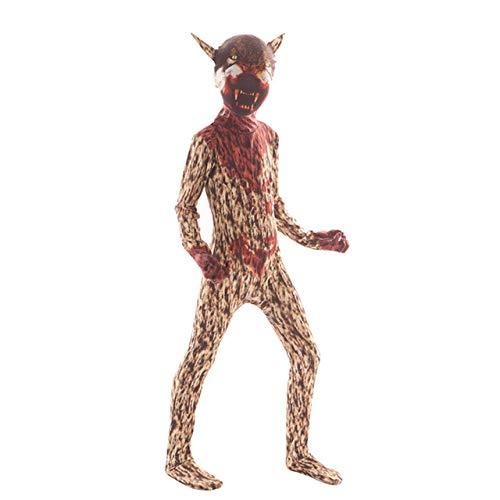 FUPOA Gruseliger Frankenstein Clown Halloween Kostüm für Kinder Gruseliger Dämon Purim Jungen Overall, 04,7T
