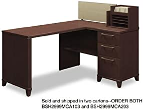 BSH2999MCA203 - Bush 60amp;quot; W x 47amp;quot; D Corner Desk Solution Box 2 of 2 Enterprise: Mocha Cherry