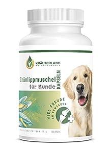 immagine di Kräuterland, capsule per le labbra verdi e i cani – 300 pezzi – 100% puro e puro – Perna Canaliculus estratto di conchiglia verde della Nuova Zelanda