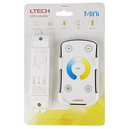 LTRGBW M5 LED Controller Dimmer Farbtemperatur Einstellbare Dimming Control Warm - nat¨¹rlich - Cold White LED-Streifen-Beleuchtung(5 Jahre Garantie)