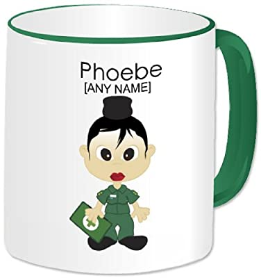 Personalised Paramedic Gifts - Paramedic Mug (A GoPersonalised Design). Any Name Any Message. Emergency Services Staff Nurse Female Paramedic Medic Medical Hospital Staff Red Cross Themed Design. A Perfect Unique Paramedic Gift Idea For Birthdays, Christm