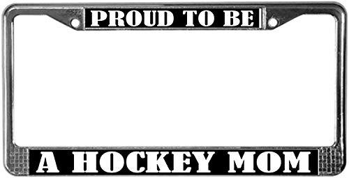 Fhdang Decor Eishockey Mama Kennzeichenrahmen Chrom Kennzeichenrahmen Kennzeichenhalter Auto Tag Zubehör 15,2 x 30,5 cm