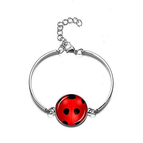Armband - meisje - cartoon - lieveheersbeestje - armband - metaal - halfstijf - cadeau-idee - verjaardag - kerstmis ladybug lady bug