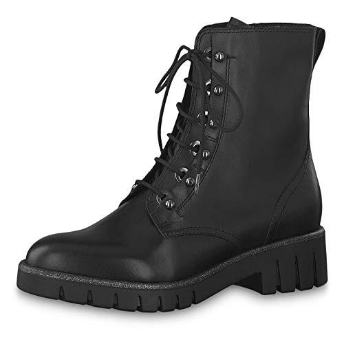 Tamaris Damen Stiefeletten 25213-23, Frauen Schnürstiefelette, feminin elegant Women's Women Woman Freizeit leger Stiefel Boot,Black,40 EU / 6.5 UK