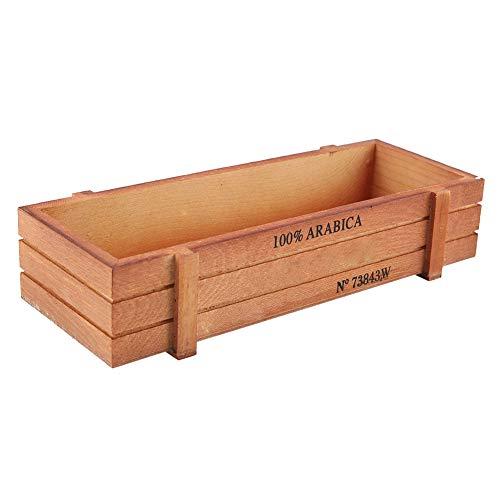 01 Caja suculenta, Escritorio Rectangular Decorativo de la Caja de presentación de la Caja suculenta del pote para la Flor