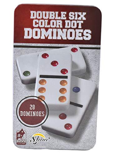 Shine SS9 28 Dominoes Double 6 Dominoes Game Set Dot Design Black