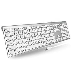 professional Macally Ultra Slim USB Computer Keyboard-Performs like a Windows or Mac Keyboard-Complete …