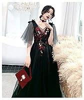 Aライン カクテルドレス カラー ドレス フォーマル パーティードレス マーメイド ミディアム ウェディング ドレス レディース aruka_kalyn S