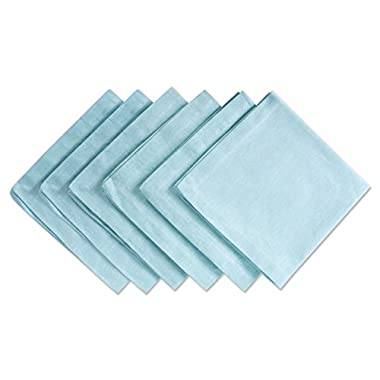 DII 100% Cotton, Oversized Basic Everyday 20x20 Napkin Set of 6, Chambray Aqua