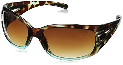 Tifosi Women's Lust Sport Sunglasses, Blue Tortoise frame/Brown Gradient Lens, one size (Blue Tortoise)